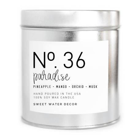 Paradise Soy Candle 9oz - Silver Tin