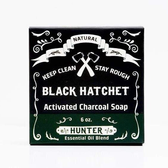 Black hatchet charcoal bar soap
