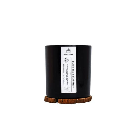 Black Label - Black Tea + Bergamot Scented Soy Candle - TheArtsyBox
