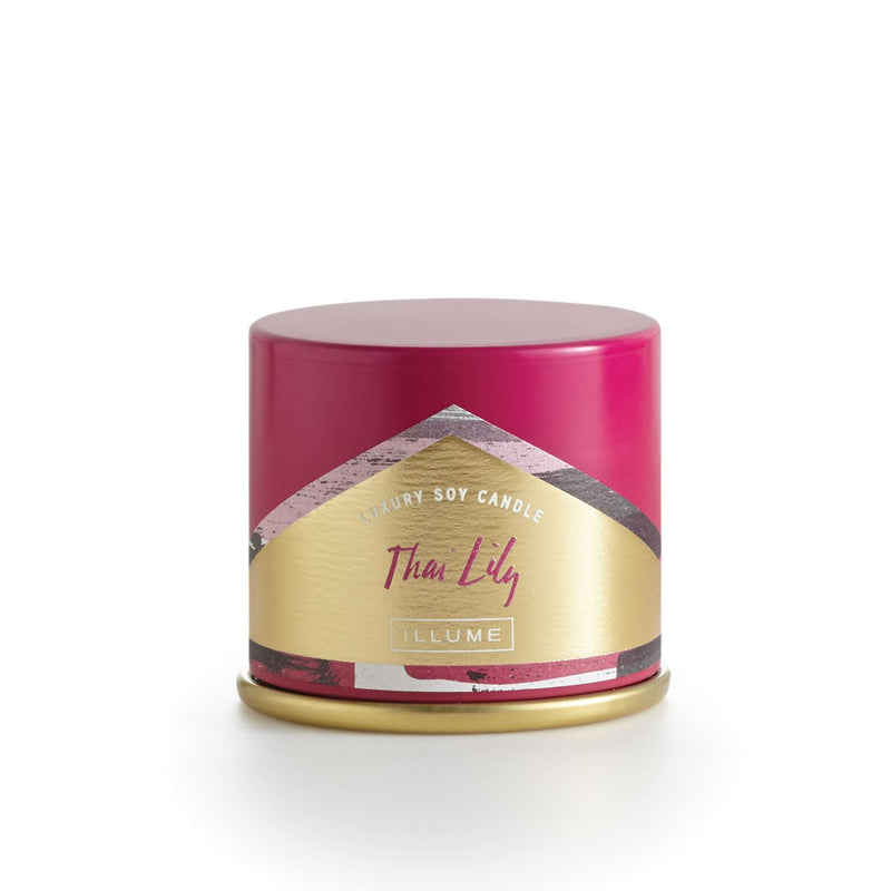Luxury Thai lily candle in travel tin size.