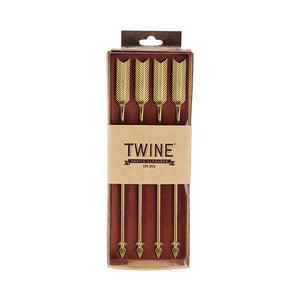 Chateau™: Golden Arrow Stainless Steel Stir Sticks by Twine - TheArtsyBox