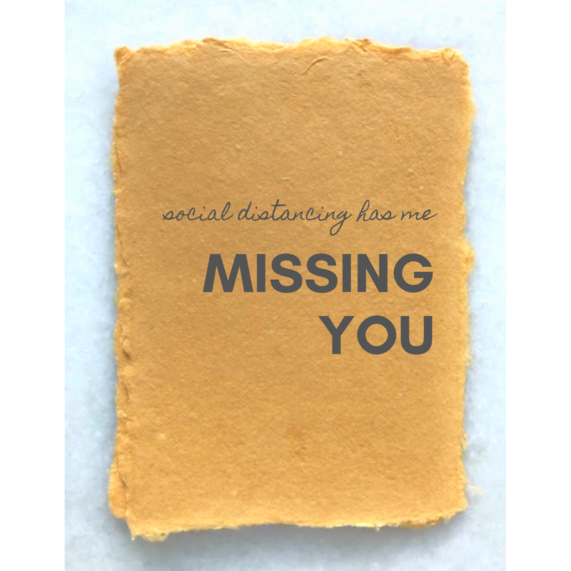 COVID-19 Greeting card: MISSING YOU - TheArtsyBox