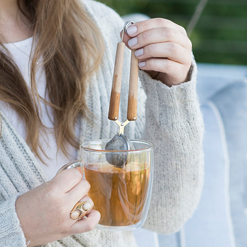 Wood Handled Simple Tea Infuser by Pinky Up