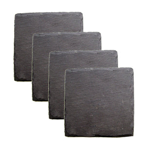 Country Home: Square Slate Coasters
