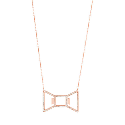 Bowtie: Rose Gold Necklace Bottle Opener