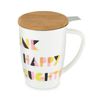 Baileyâ Drink Happy Ceramic Tea Mug & Infuser by Pinky Up
