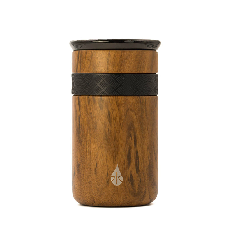 12oz Teak Wood Tumbler with ceramic lid - TheArtsyBox