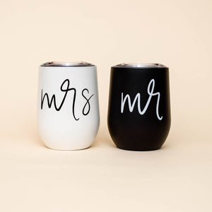 Mrs. Metal Wine Tumbler - TheArtsyBox
