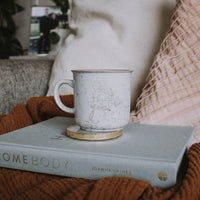 See the Good White Marble Mug