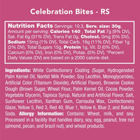 Ingredients of celebration bites candies