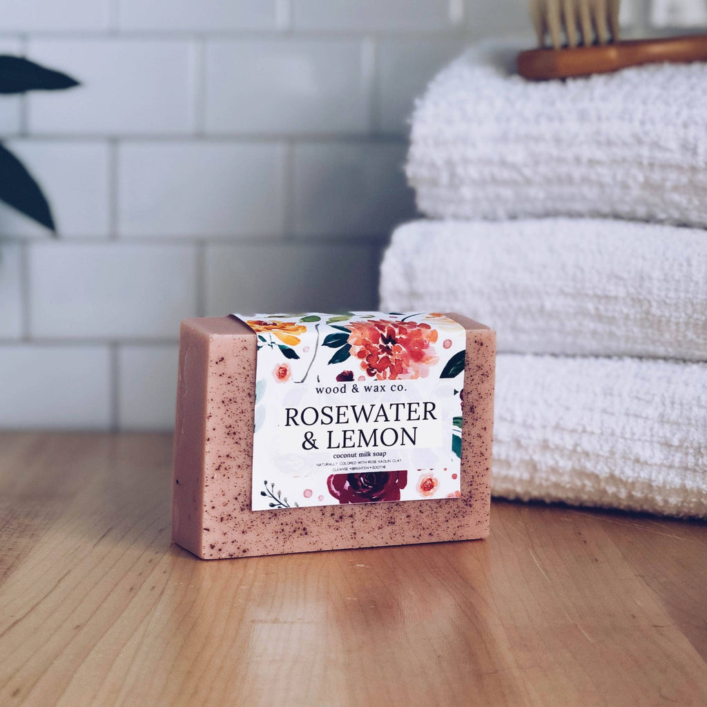 Rosewater & Lemon Coconut Milk Soap - TheArtsyBox