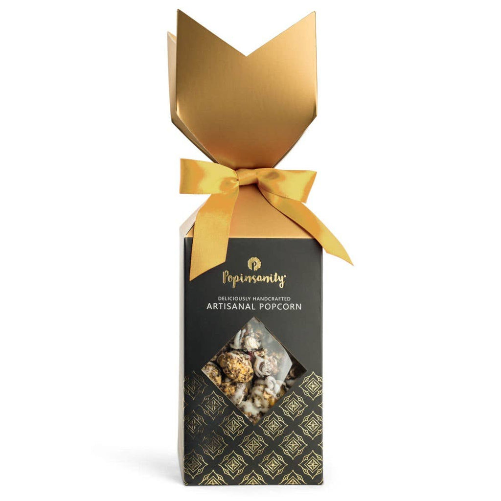 Cookies & Cream Gourmet Popcorn - Elegant Crown Gift Box