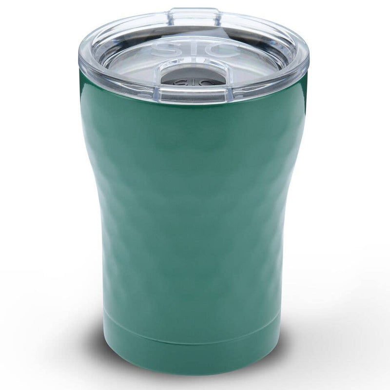 12 oz Hammered Green Stainless Steel Tumbler - TheArtsyBox