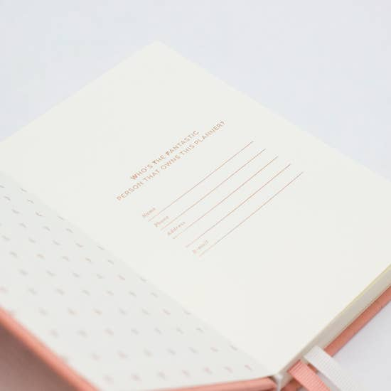 Introductory page of 2020 pocket planner