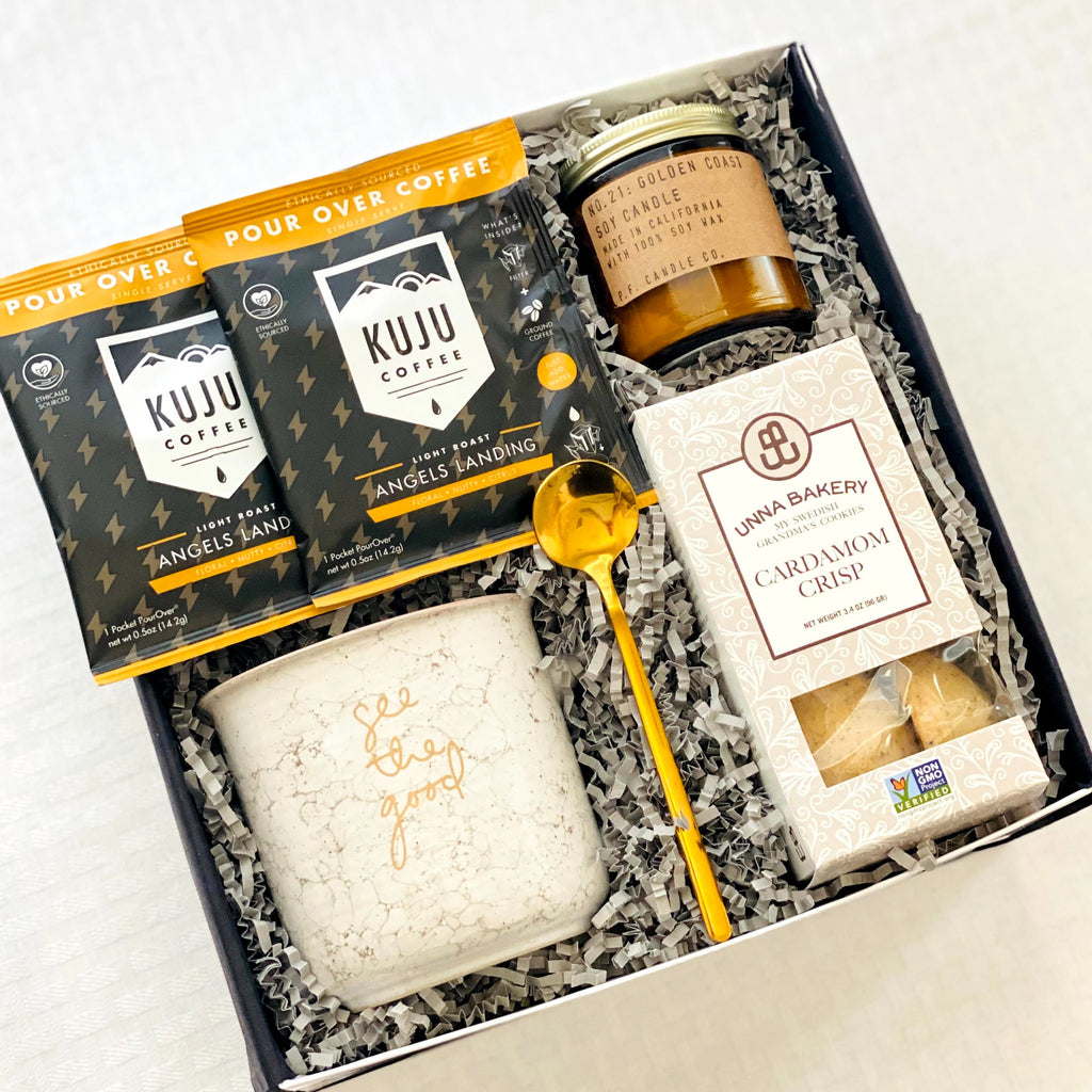 Coffee inspired gift box for employees, client appreciation