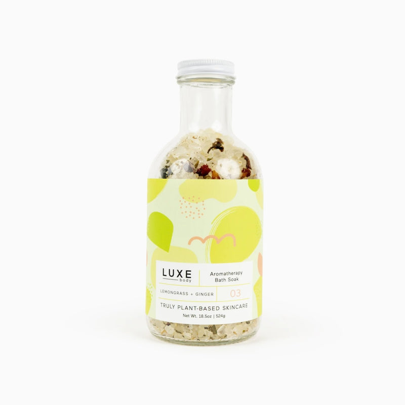Luxe Lemongrass + Ginger Aromatherapy Bath Salt Soak - TheArtsyBox