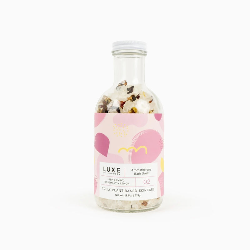 Luxe Peppermint Rosemary + Lemon Aromatherapy Bath Salt Soak - TheArtsyBox