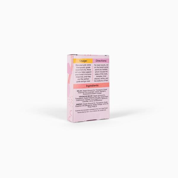 Luxe Mini Essential Oil Roll On Pack - Pink