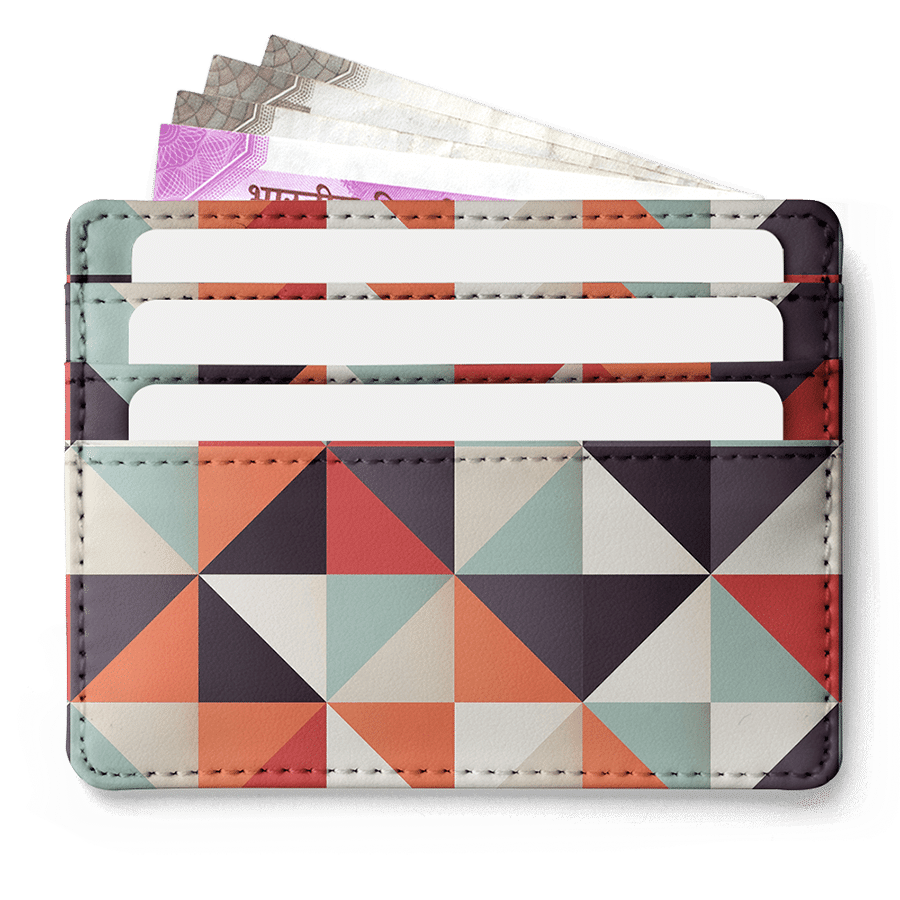 Beauty In Geometry 7 Skinny Fit Card Wallet