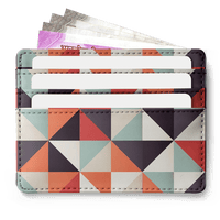 Beauty In Geometry 7 Skinny Fit Card Wallet - TheArtsyBox