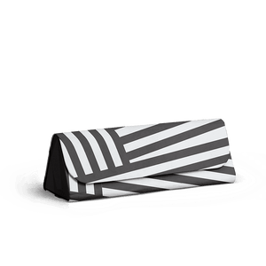 Black Stripes - Foldaway Slim Eyewear/Sunglass Case - TheArtsyBox
