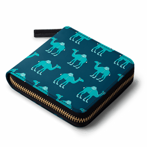 BLUE-CAME-MKE-ZIP-WALLET - TheArtsyBox