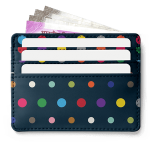 Colored Dots Skinny Fit Card Wallet - TheArtsyBox