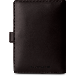 Dark Brown Leather Compact Passport Wallet - TheArtsyBox