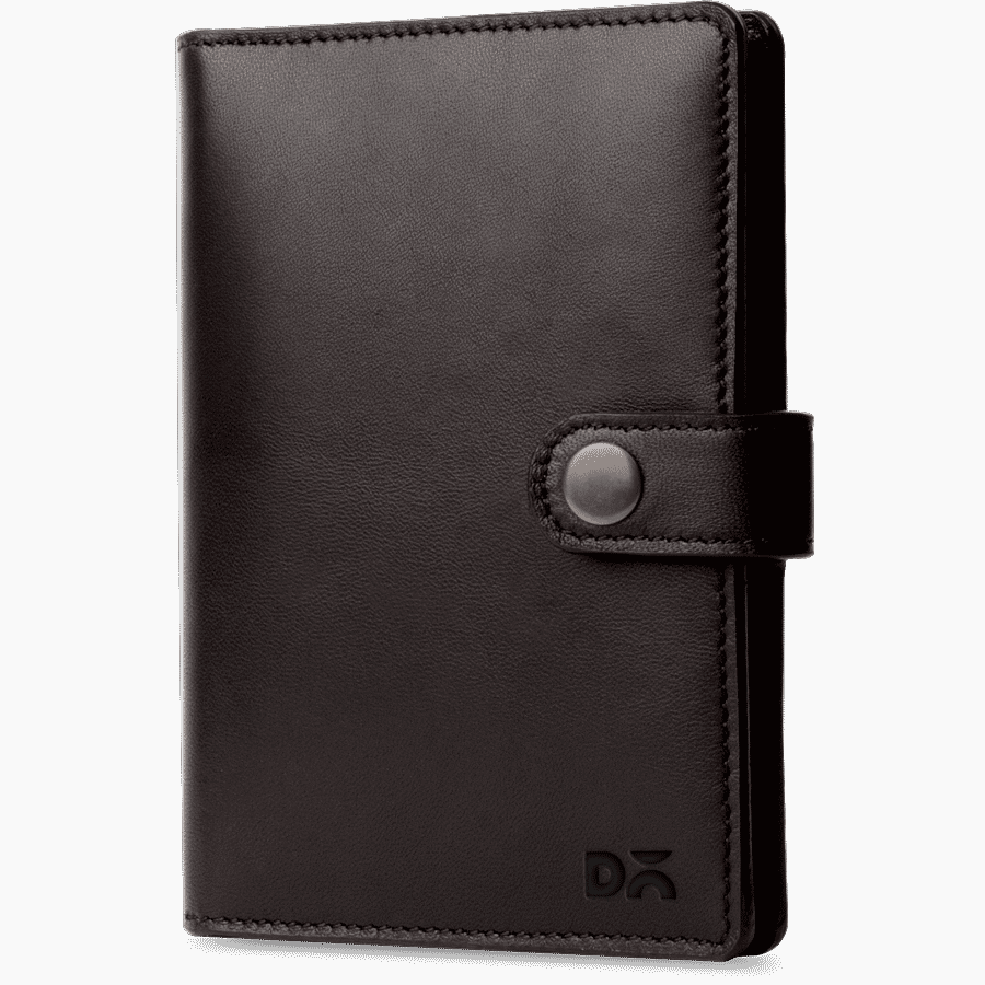 Dark Brown Leather Compact Passport Wallet