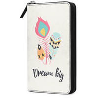 Feathers 31 Travel Organizer Passport Wallet - TheArtsyBox