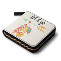 Feathers 48 Zip Wallet - TheArtsyBox