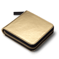 Gold Metallic Zip Wallet