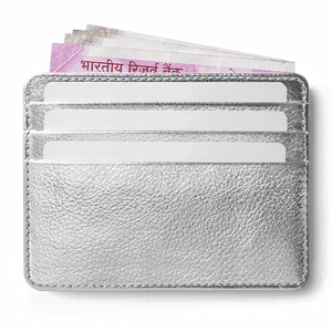 Silver Metallic Skinny Fit Card Wallet - TheArtsyBox