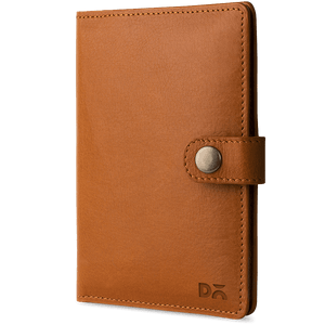 Tan Leather Compact Passport Wallet - TheArtsyBox