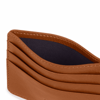 Tan Leather Skinny Fit Card Wallet