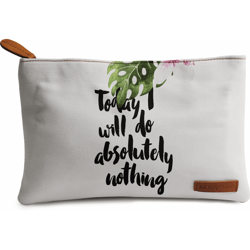 Today I Will Do Nothing Regular Stash Pouch - TheArtsyBox