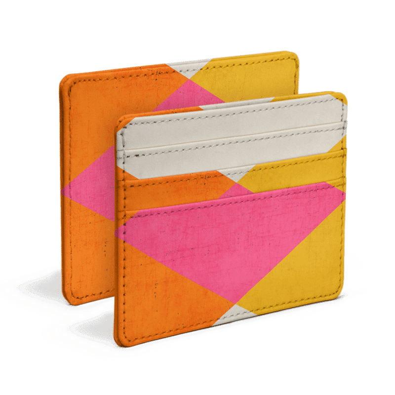 Triangle Summer Skinny Fit Card Wallet - TheArtsyBox