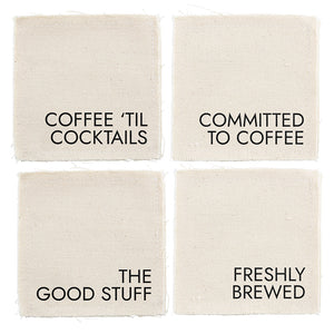 Canvas coaster set - Coffee - TheArtsyBox