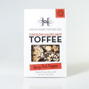 Oregon Hazelnut Toffee, with Red Pepper Flakes