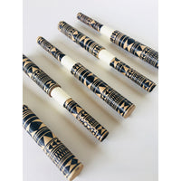 Black Tribal pattern paper pen - Blue
