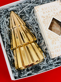 golden christmas tree candle
