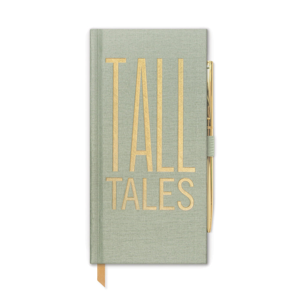 """TALL TALES"" Skinny journal with pen"