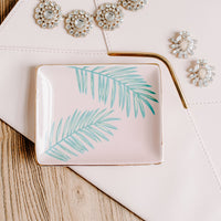 Palm tropical jewelry dish