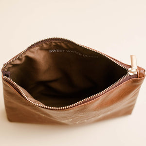MAKEUP-Faux leather makeup bag