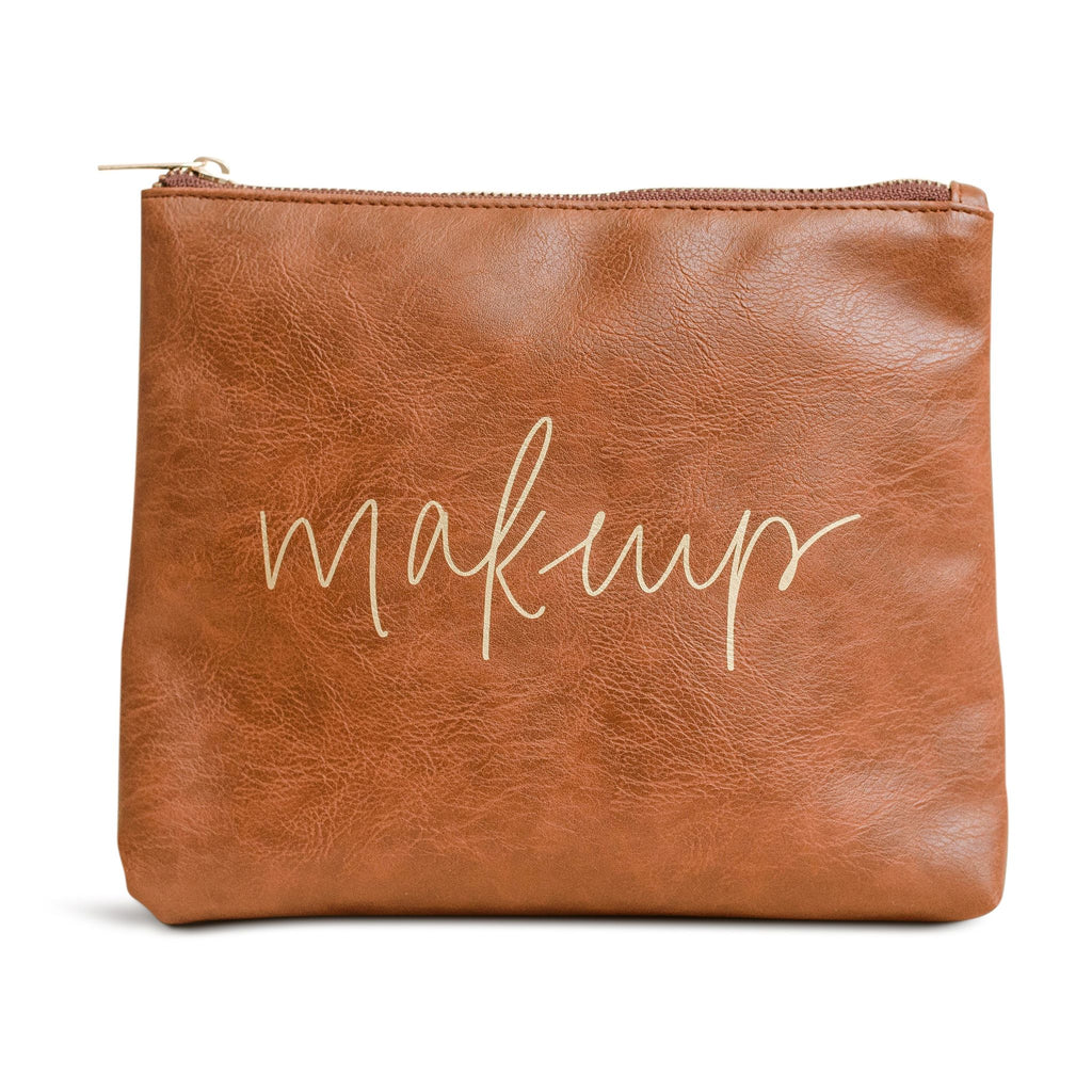 faux leather makeup bag