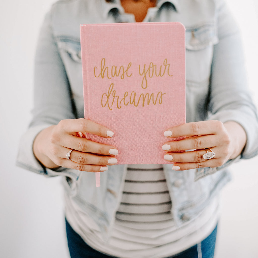 Chase your dreams fabric journal