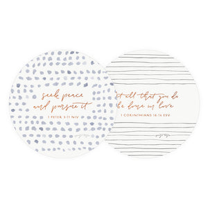 Seek Peace Coaster - TheArtsyBox
