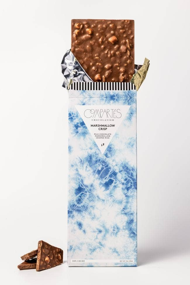 Marshmallow Crisp Milk Chocolate Bar By Campartes