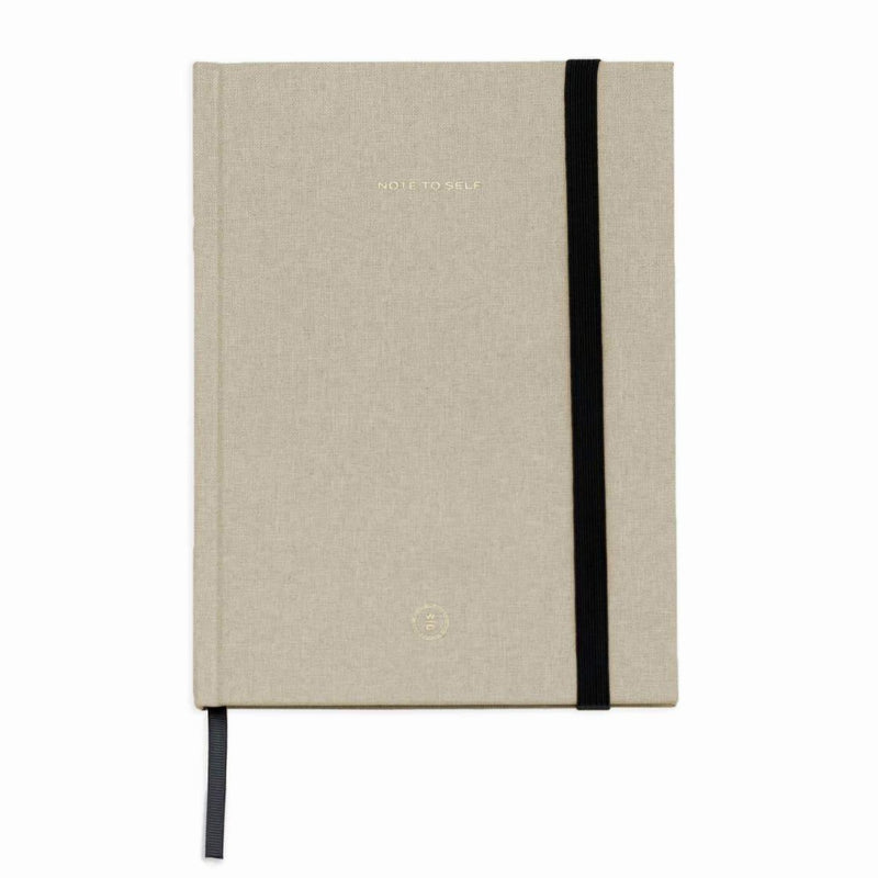 Cream Linen Note To Self Journal by Wit and Delight