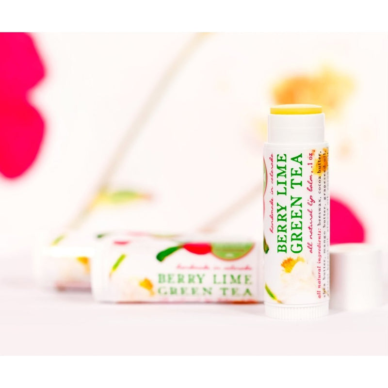Berry Lime Green Tea - All Natural Lip Balm - TheArtsyBox